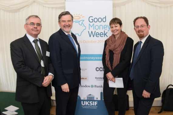Simon Howard, Barry Gardiner MP, Caroline Lucas MP and Dr Julian Huppert MP