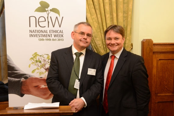 Simon Howard and Iain Wright MP at the NEIW Parliamentary Reception in 2013